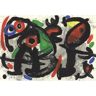 Joan Miro, Derriere Le Miroir, No. 186, Pg 10 & 11, 1970, Lithograph For Sale