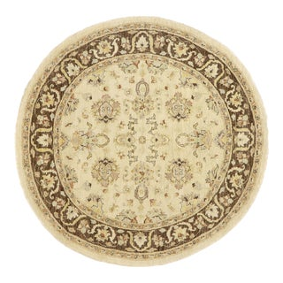 Vintage Indian Round Area Rug, Circular Rug - 06'01 X 06'01 For Sale