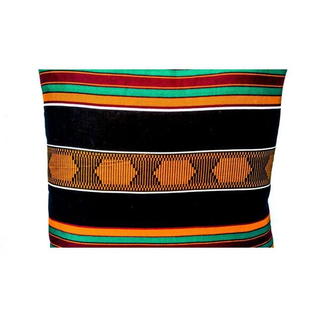 Sample Sale|Kente Cloth Print Pillow- a Pair - Image 2 of 3