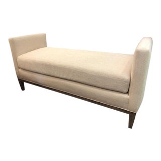 Custom Upholstered Serena & Lily 'Barton' Bench For Sale