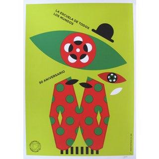 2016 Cuban Silkscreen Poster, 30 Aniversario (Magritte)