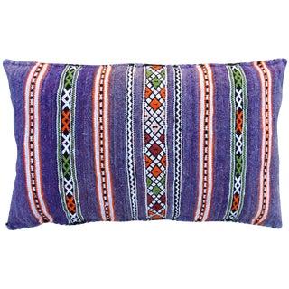 Moroccan Berber Pillow W/ Fine Stripes For Sale