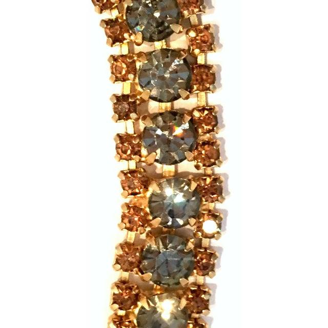 1950s 1950's Vintage Joseph Warner Gold & Swarovski Crystal Necklace and Earrings - Set of 3 For Sale - Image 5 of 12