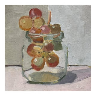 Bubble Gum Grapes - Original Oil Painting