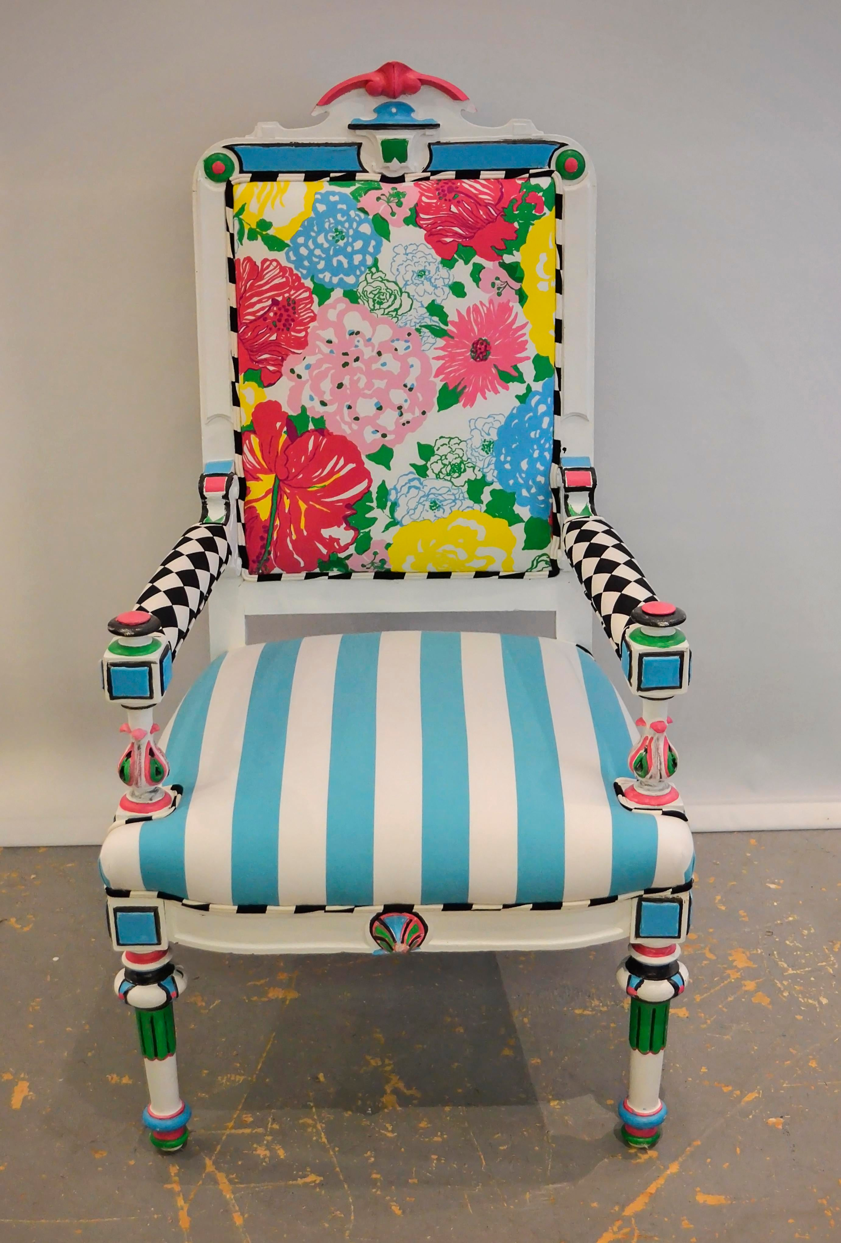 Lilly Pulitzer Harlequin Chair   Image 2 Of 5