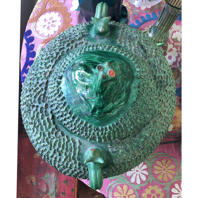 Mexican Green Lidded Pot For Sale - Image 4 of 11