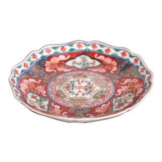 Vintage Traditional Chinese Imari Hand Painted Dish For Sale