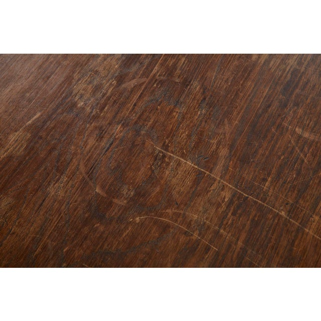 Country English Provincial Oak Farmhouse Trestle Dining Table For Sale In San Francisco - Image 6 of 13