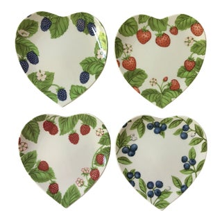 Berry Dessert Plates by Williams-Sonoma Made in Japan - Set of Four For Sale
