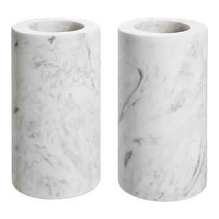 White Marble Tealight Holders 2 | Eichholtz Tobor M For Sale