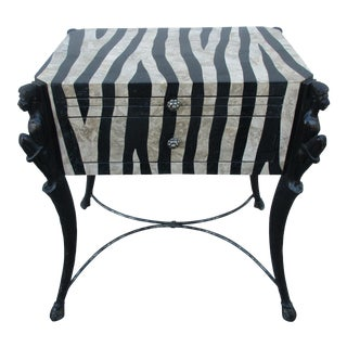 Exotic Stylized Safari Side Table -Hooker Furniture Seven Seas Collection For Sale