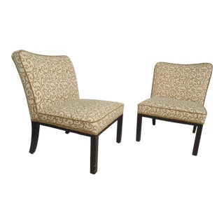 Pair of Attractive Slipper Chairs For Sale