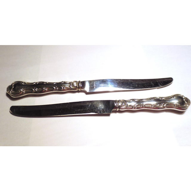 Mid 20th Century Strasbourg Gorham Sterling Silver New French Hollow Knives - a Pair For Sale - Image 5 of 10