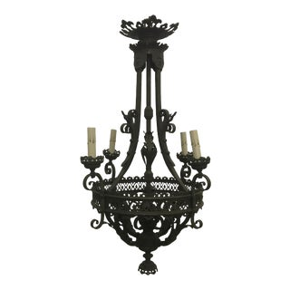 French Bronze Chandelier For Sale
