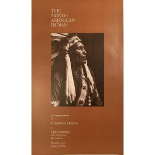 Edward Curtis American Indian Super Rare Photography Poster, 1973 For Sale