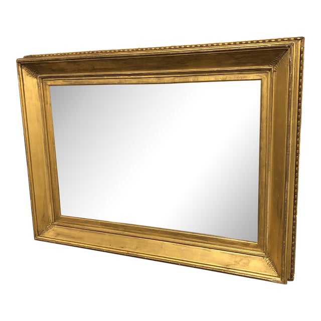 19th Century Regency Period Frame Mirror Ivy Frond Corners For Sale