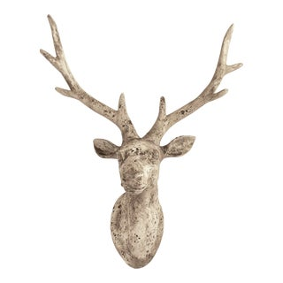 Willows Deer Head in Gray For Sale