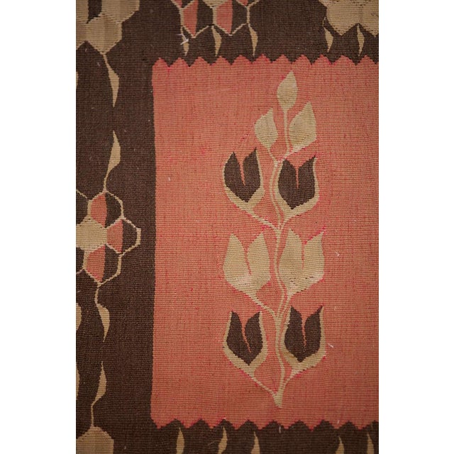 19th Century Pink and Brown Kilim Runner from Bulgaria - Image 4 of 5
