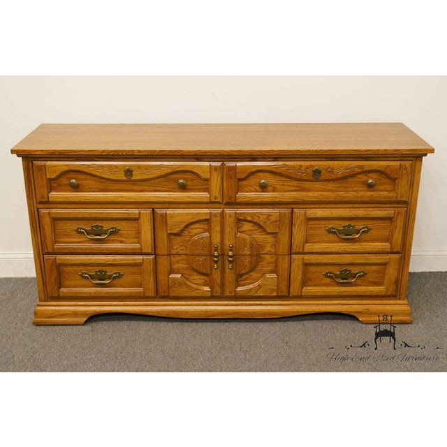 Chinoiserie Vintage Dixie Asian Chinoiserie Triple Dresser For Sale - Image 3 of 13