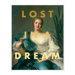 Lost in a Dream by Lara Fowler in White Framed Paper, Small Art Print For Sale
