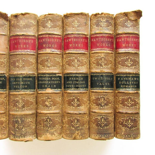 1880 the Works of Nathaniel Hawthorne Published Boston - 7 Volumes For Sale - Image 4 of 9