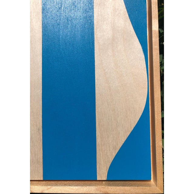 """Blue Modern"" Original Modern Art painting by Award Winning Professional Artist Tony Curry. This original painting is hand..."