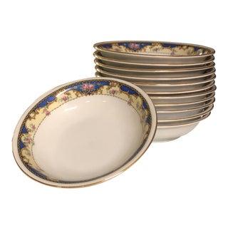 Antique 1920s Soup Bowls - Set of 12 For Sale