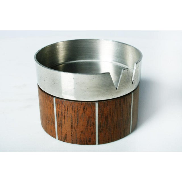 Paul Evans Walnut and Pewter Ashtray by Paul Evans For Sale - Image 4 of 7