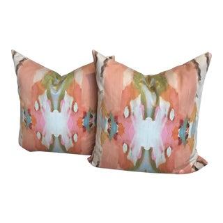 "Laura Park ""Under the Sea"" Orange 22"" Pillows - a Pair For Sale"