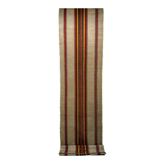 Mid Century American Woven Runner Rug - 3′ × 14′ For Sale