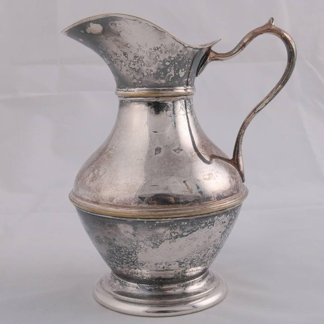 Georgian German Sterling Silver Georgian Style Pitcher 9.4 Toz Darmstadt, 19th Century For Sale - Image 3 of 13