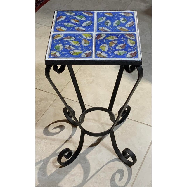 Vintage Persian Tile Side Table For Sale - Image 13 of 13