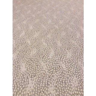 Old World Weavers Flurry - Modern Snow Grey & White Multipurpose Fabric - 7 Yards For Sale
