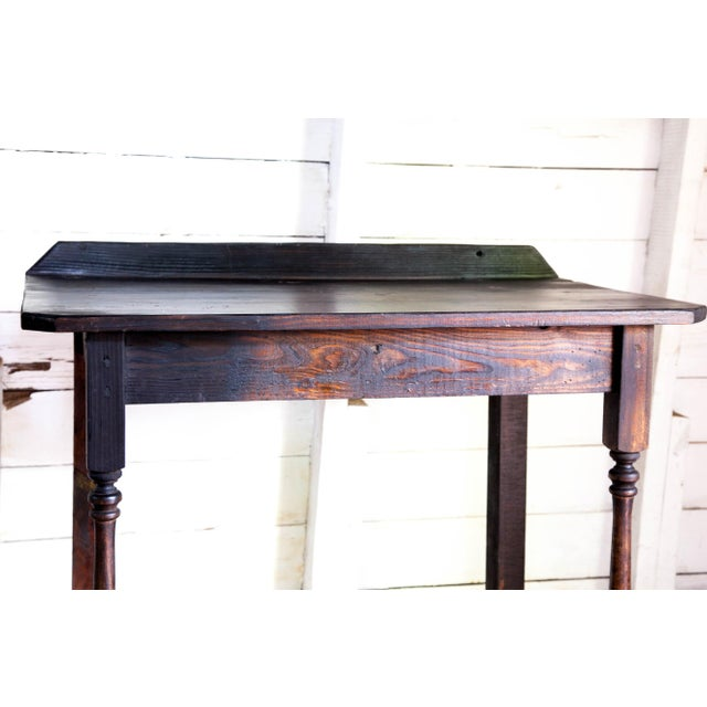 Vintage Texana Solid Wood Lectern/Writing Table For Sale - Image 4 of 5