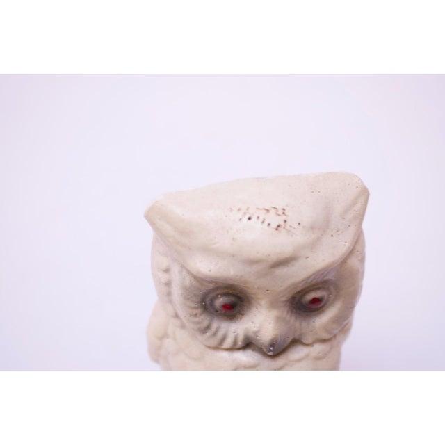 White 1950s Diminutive Chalkware Owl Figurine For Sale - Image 8 of 9