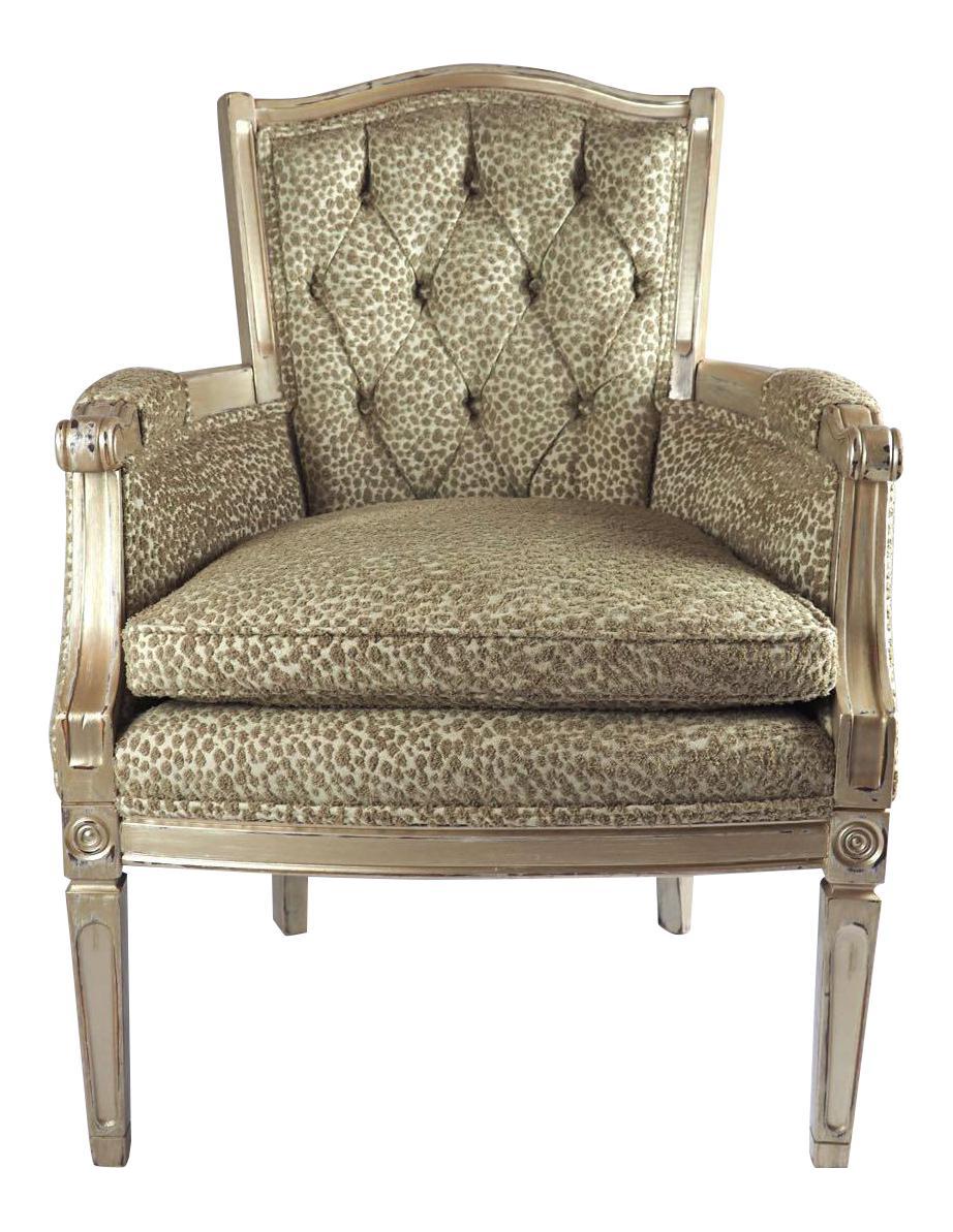 Vintage Hollywood Regency Chair   Image 1 Of 7
