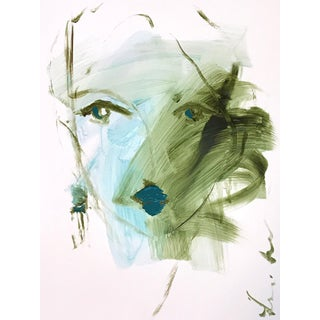 Blue Green Portrait by Leslie Weaver For Sale