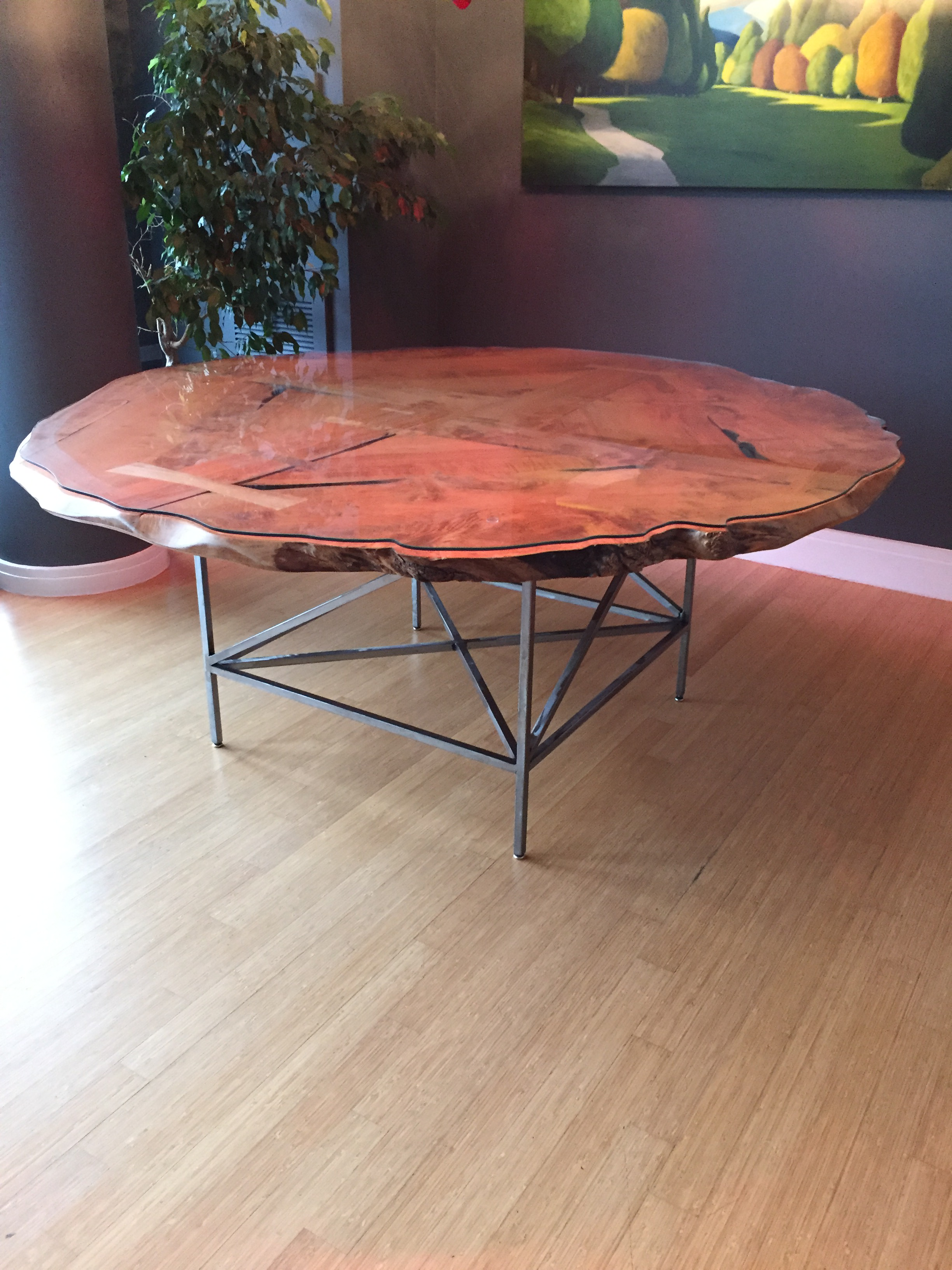 Jim Denney Round Maple Dining Table For Sale   Image 9 Of 11