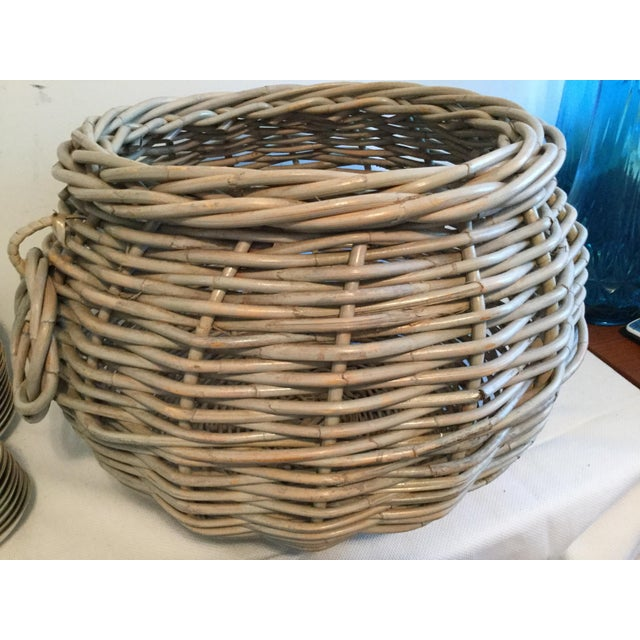 American 1990s Contemporary Decorative Basket For Sale - Image 3 of 7