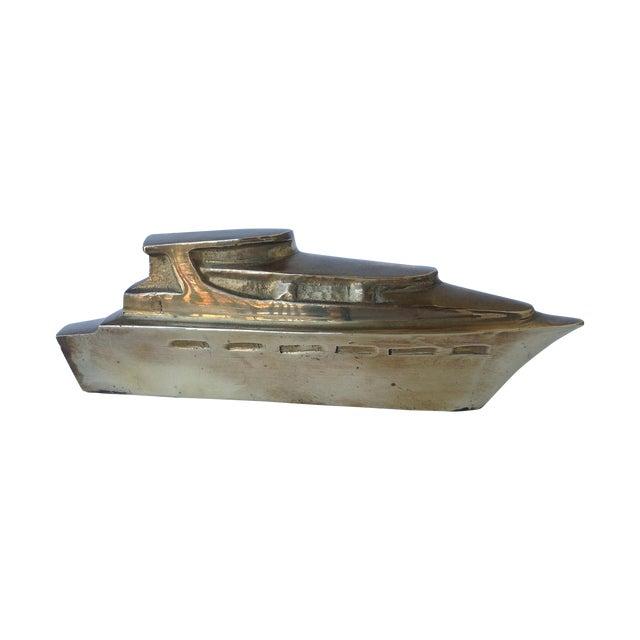 Brass yacht accent piece paperweight chairish