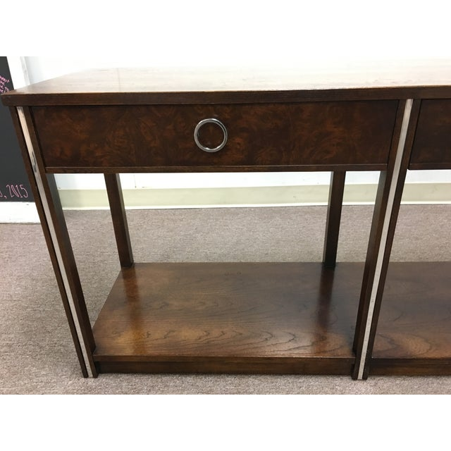 Vintage Wood and Chrome Console/Sofa Table - Image 3 of 10