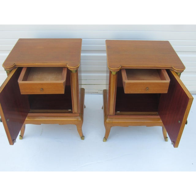 1950s French Maple Nightstands - A Pair - Image 3 of 10