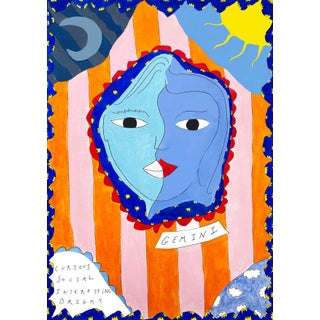 """Gemini Horoscope"" Contemporary Print For Sale"
