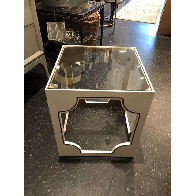 White Contemporary Chelsea House Stendhal Accent Table For Sale - Image 8 of 8