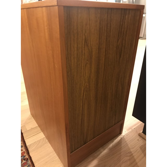 Mid-Century Teak Filing Cabinet For Sale - Image 9 of 11
