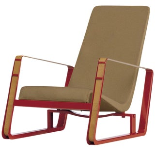 Jean Prouvé Cité Chair in Beige and Red for Vitra