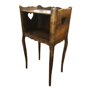19th Century French Oak Stand With Shelf For Sale