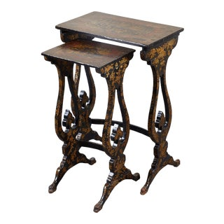 Pair of 19th C. English Chinoiserie Pine Tables