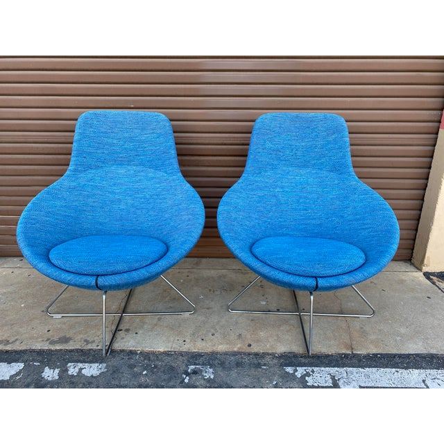 Metal Allermuir Conic Modern Lounge Chairs - a Pair For Sale - Image 7 of 7