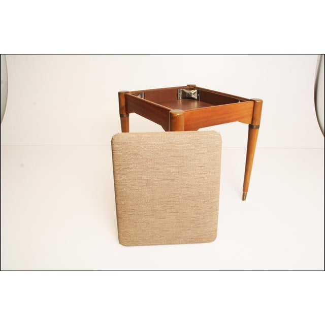 Danish Modern Sewing Storage Stool - Image 3 of 11